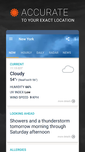 AccuWeather: Local Weather Forecast & Live Alerts screenshot