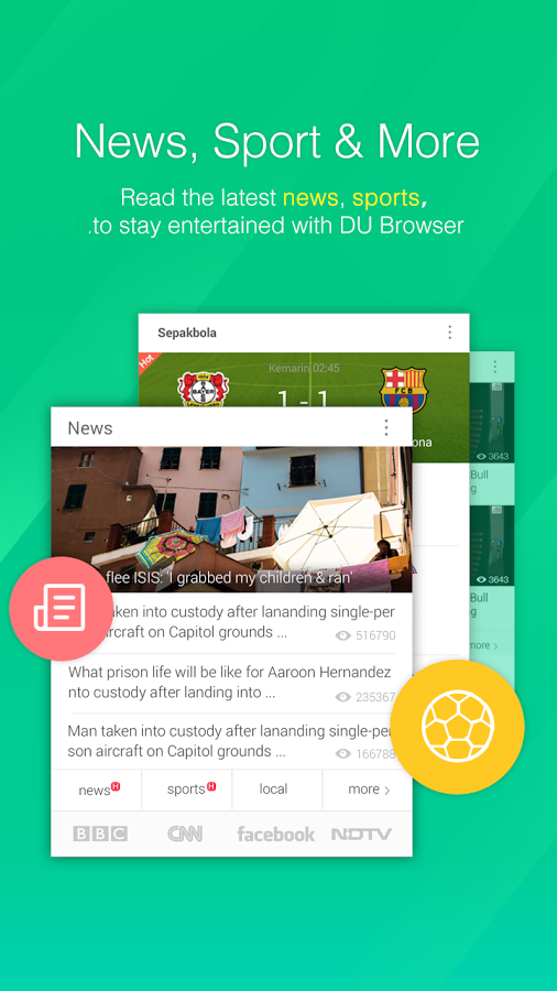 DU Browser screenshot