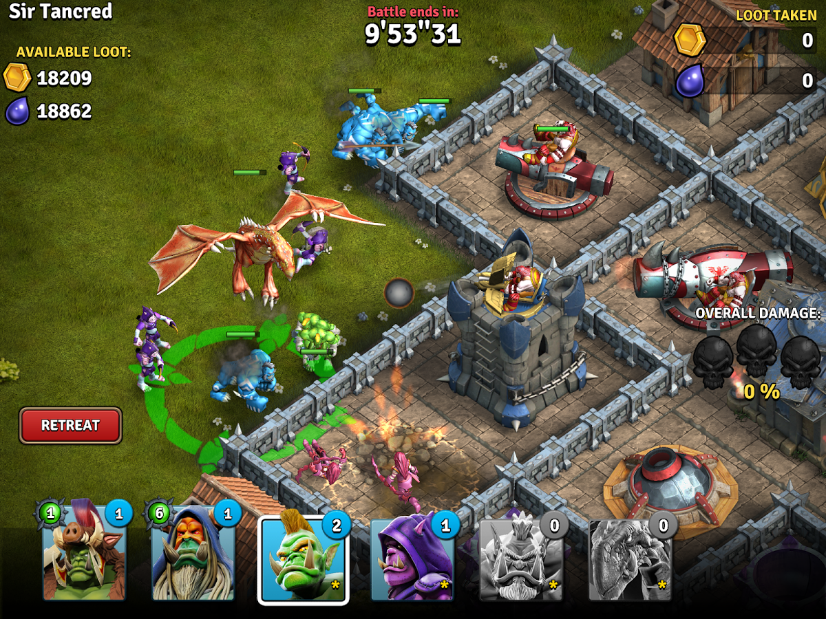 Orcs vs Knights screenshot