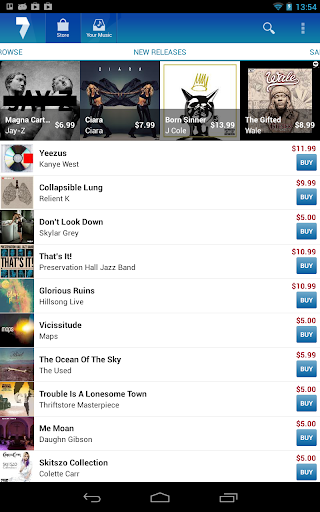 7digital Music Store screenshot